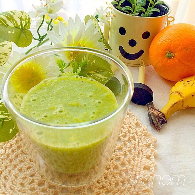 おはよー(o^^o) 今日から体内デトックスダイエット始めます(o^^o) 続かなかったとしても(多分続かないw)7日間はレシピをご案内&備忘として投稿するつもりなのでお付き合いください♡ 体デト友募集中♪  小松菜と柑橘のグリーンスムージー♪  小松菜50 みかん2〜3(オレンジ1に置き換え) バナナ1 レモン汁小さじ1 はちみつ少し 水100 - 96件のもぐもぐ - 体内デトックス1日目(全7日) by srisnom