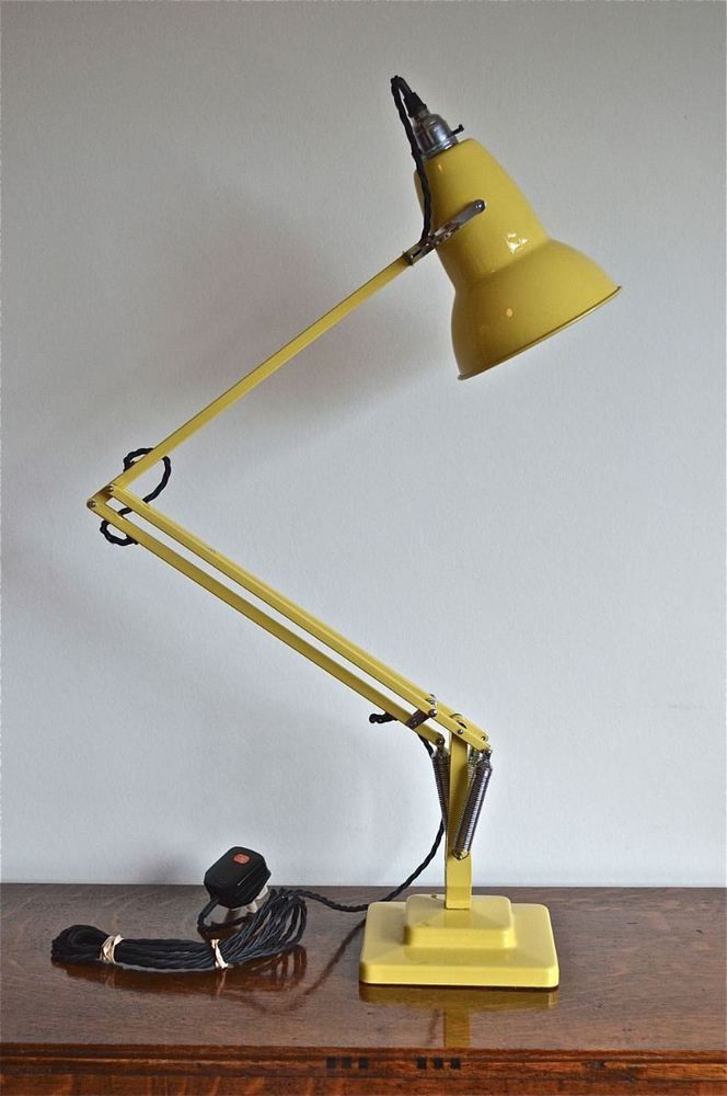 SUPERB ORIGINAL HERBERT TERRY ANGLEPOISE LIGHT IN YELLOW DESK LAMP BRAIDED FLEX  | eBay