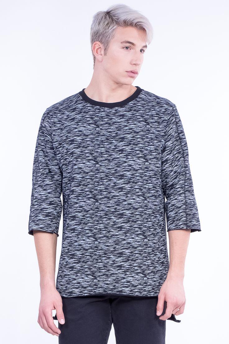 Oversized Camo Sweatshirt In 3/4 Sleeves