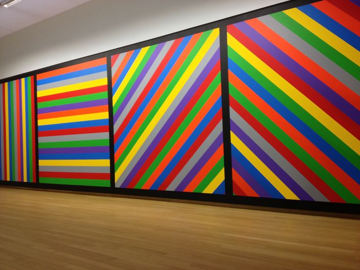 1000 images about artiste sol lewitt on pinterest - Tableau sur mur blanc ...