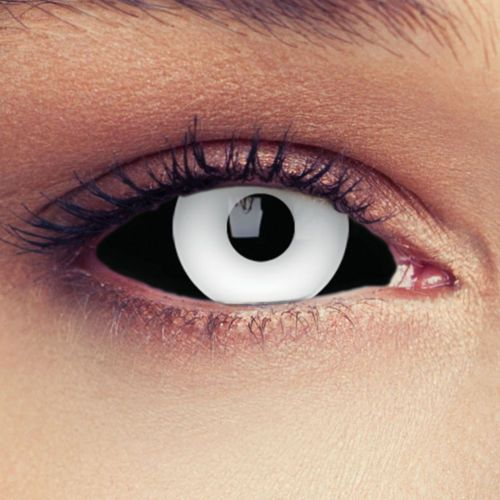 Sclera-Black-White-Lenses-Lentilles Contact Lens Halloween Costume Cosplay
