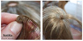 Ручные мечты: Волосы кукле из тресс