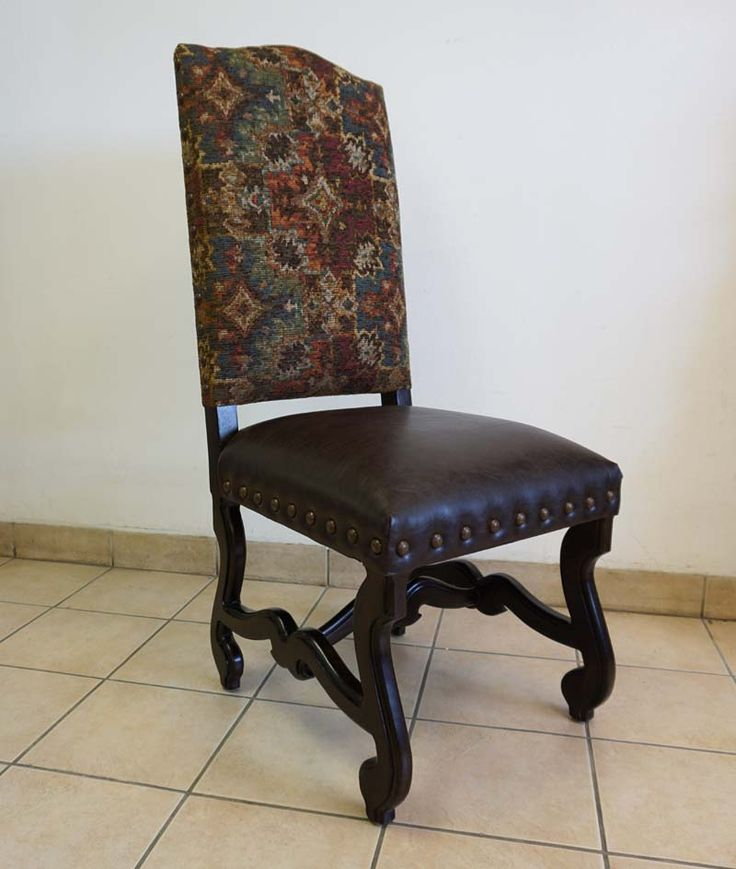 harvest dining chair western dining chairs chenile fabric in multi