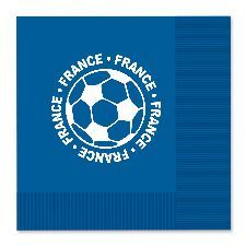 France Football Napkins. Perfect to add to the Euro 2016 theme while serving any food at get-togethers to watch the games. http://www.novelties-direct.co.uk/France-Football-Napkins.html