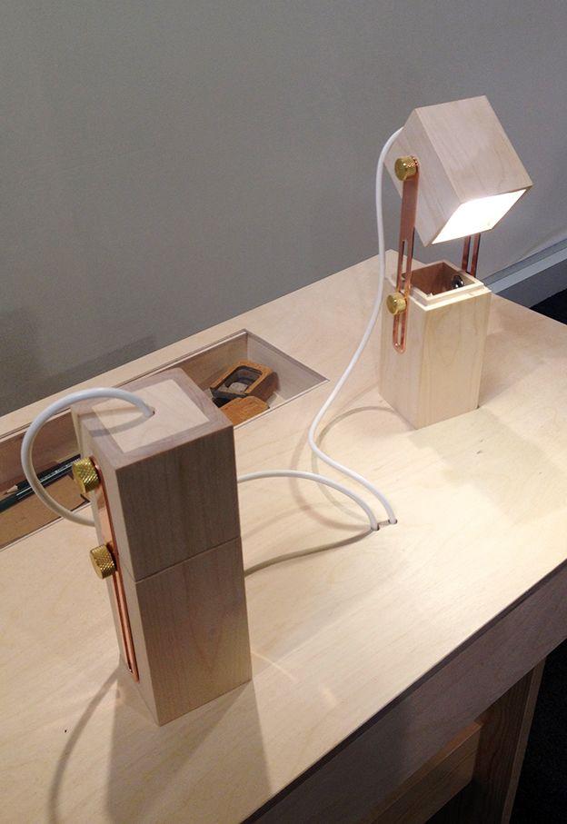 Salone Satellite 2013: Wooden lamp by Caroline Olsson