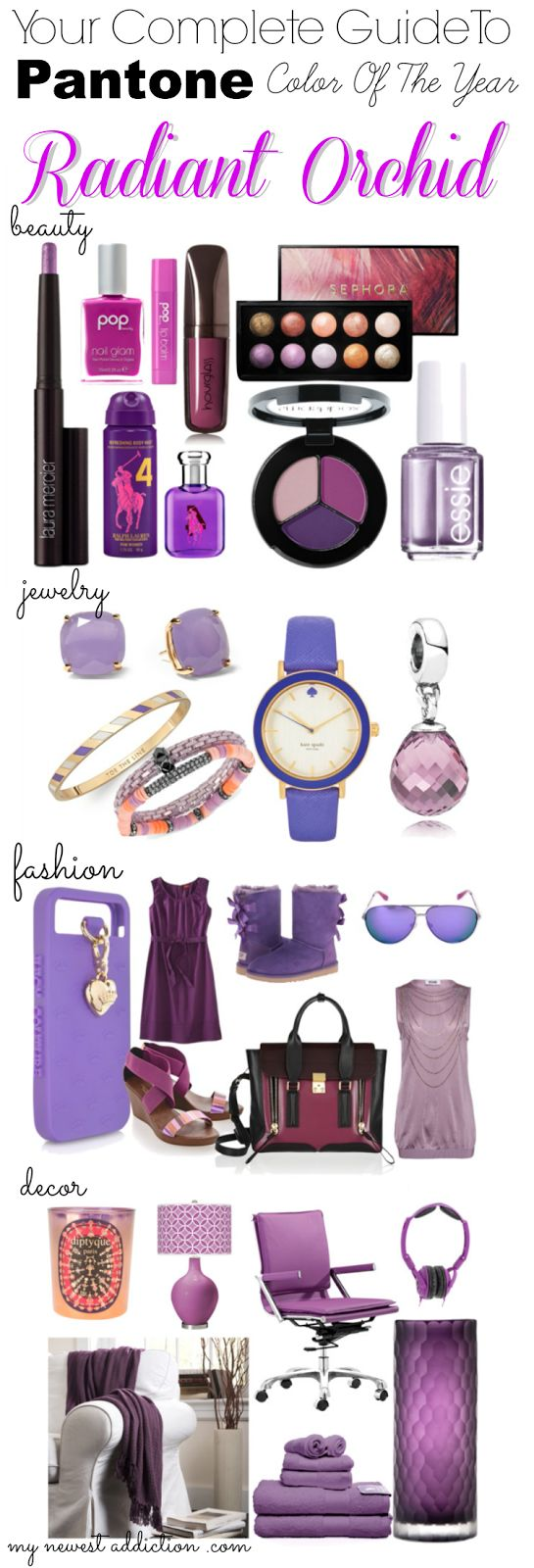 2014. Radiant Orchid: The Complete Guide via @Laura Jayson Jayson Jayson Jayson Jayson Gallaway #coloroftheyear #radiantorchid #pantone | thank goodness, I actually like this color