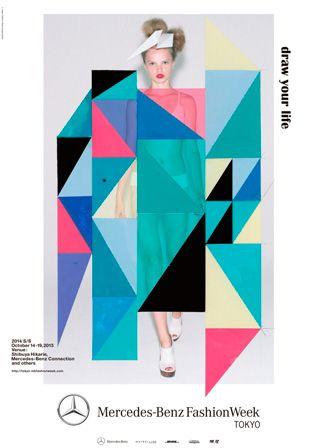 『Mercedes-Benz Fashion Week TOKYO』キービジュアル(デザイン:長嶋りかこ)