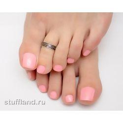 Серебряное кольцо на ногу 04556