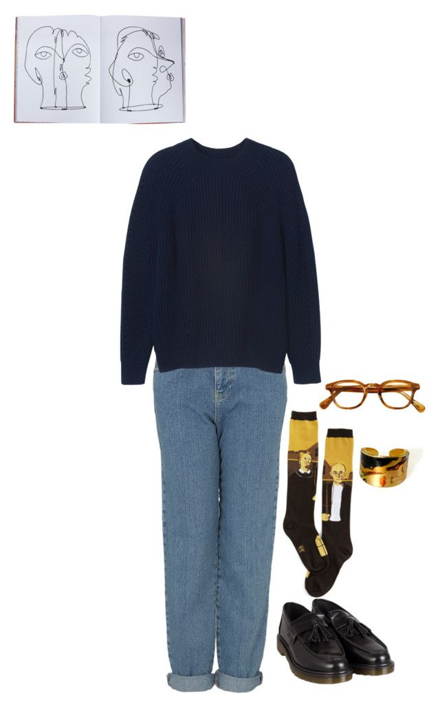 """Untitled #272"" by stephaniepink ❤ liked on Polyvore featuring Topshop, Monki, Dr. Martens and Assouline Publishing"