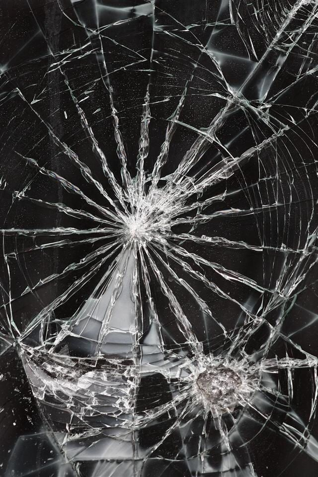 Cracked screen iPhone wallpaper