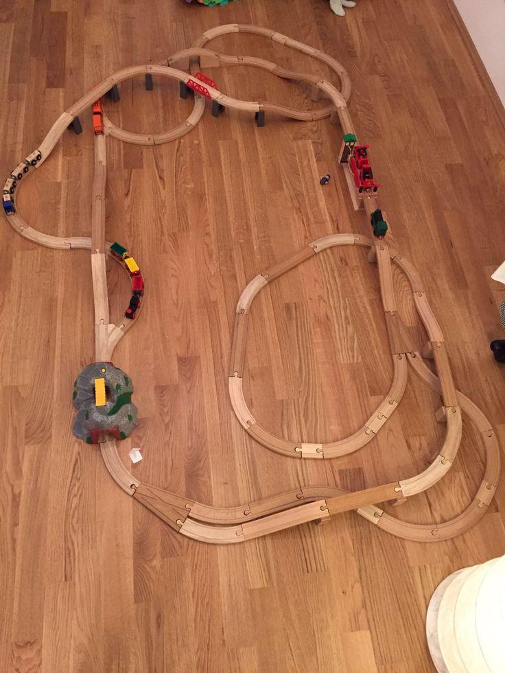 Streckenführung Holzeisenbahn
