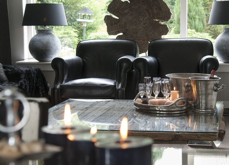 13 best zwart wit interieur rofra home images on pinterest decorative accents life styles - Landelijke chique lounge ...