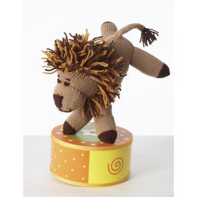 Leo Lion - uses Patons wool worsted yarn.