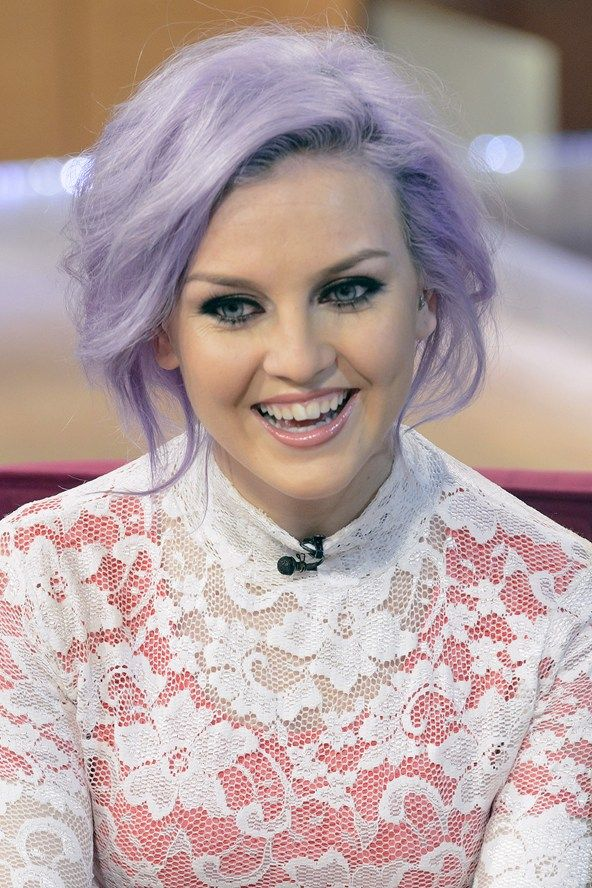 wish i was cool enough to pull off this hair color. The pastel hair trend really suits Perrie from little mix with her lilac look