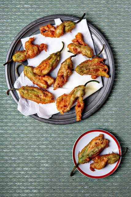 24 recipes for fun battered and fried finger foods, from batter-fried scallions to meat-stuffed potato croquettes