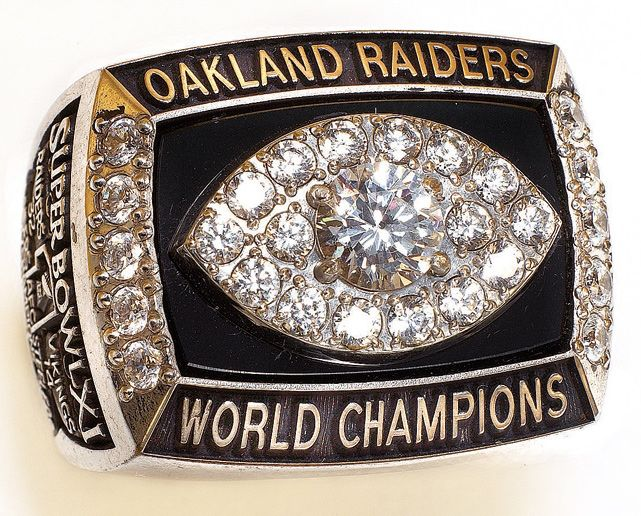 First Ring won by Oakland in Super Bowl XI. Defeated the Minnesota Vikings 32-14 in Pasadena, CA.