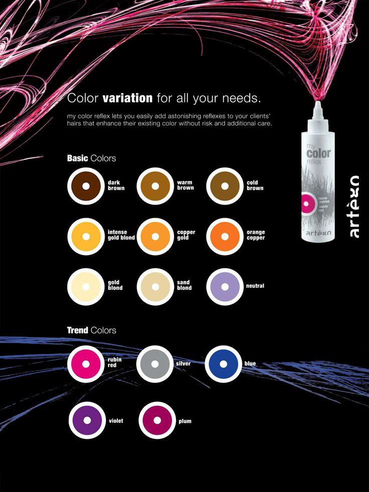 artègo my color reflex color variation. | Color Charts ...
