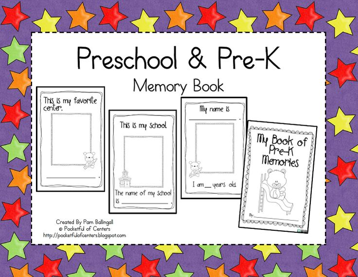 Kindergarten Memory Book Cover Ideas : Best images about prek memory books on pinterest