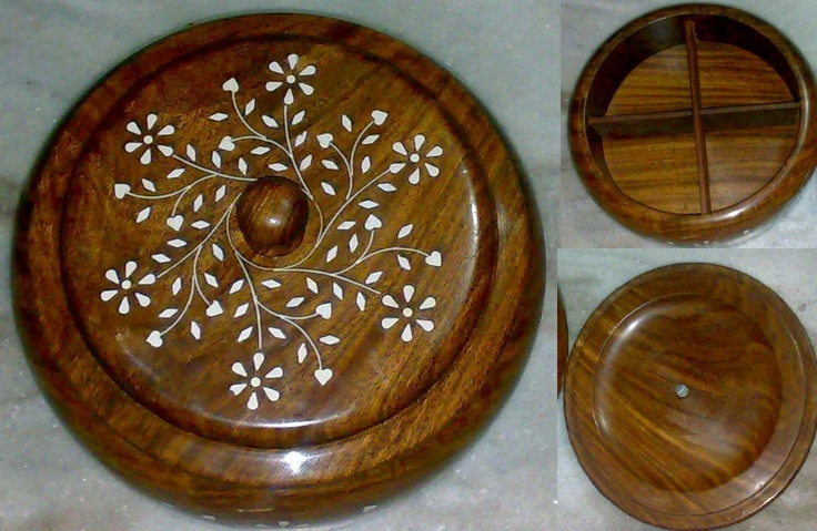 wooden masala dabba: Metals Work, India Shops, De L Inde, Shops Lists, Route, India Decor, Wooden Masala, Indian Stuff, Masala Dabba