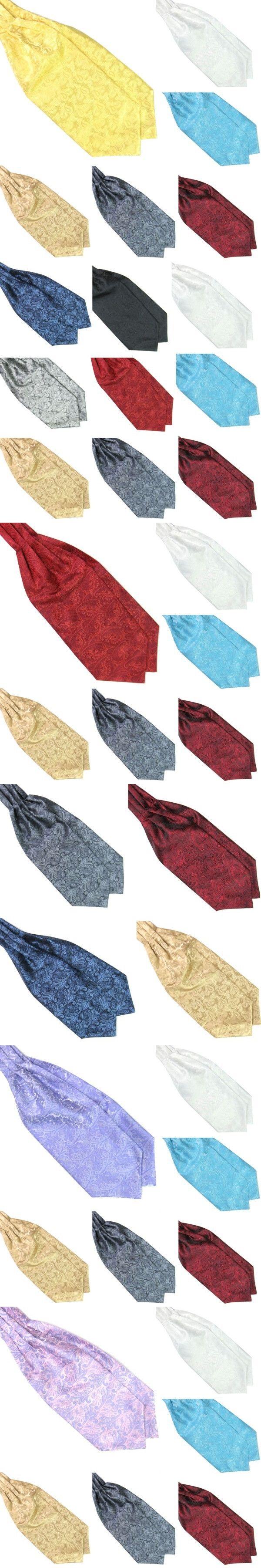 Hot Ascot Tie Cravat Men Neck Tie Satin Self Tie For Wedding