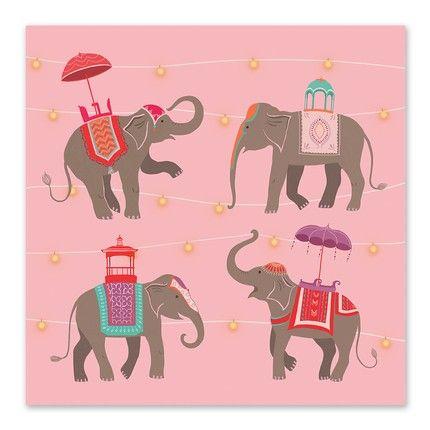 Elephant Greeting Cards - Celebrations #diwali #greetingcard #stationery