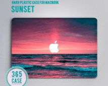Hard Plastic MacBook pro 13 Case Sunset Ocen Sea Macbook Air 13 Case Macbook Air…