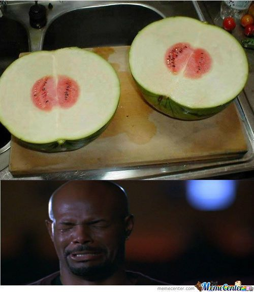 When He Finds Out That There Nearly Is No Watermelon Inside The Watermelon     #Meme #FunnyMeme