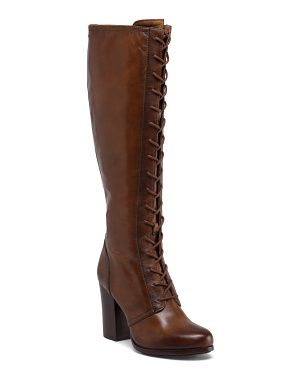 Leather Tall Lace Up Boot///  FRY Lace-up tall boot  $329  @ TJ Max online