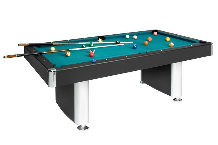 Dieser schöne 7-Fuß-Billardtisch für den Heimgebrauch zeichnet sich duch sein modernes Design mit schwarzen Seitenteilen aus. Beine mit einzeln verstellbaren Fußtellern 1-tlg. Werkstoff-Platte: 19 mm, Spielfeld mit...