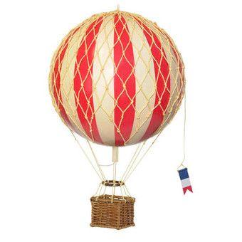Luftballon, rød,  mellem (18 cm)