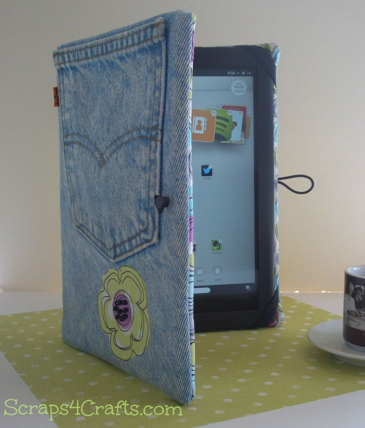 What do you do with your favorite old Jeans? ...recycle them into a Tablet Cover! Protect your iPad, Kindle or NOOK with a funky denim Tablet Cover!