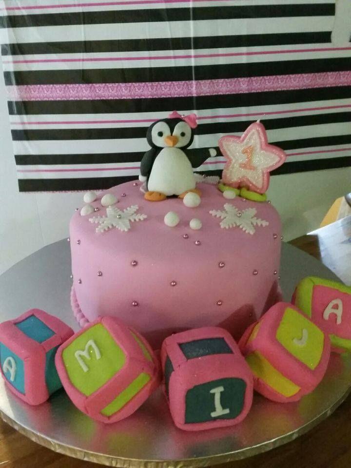 penguin kiddies cake