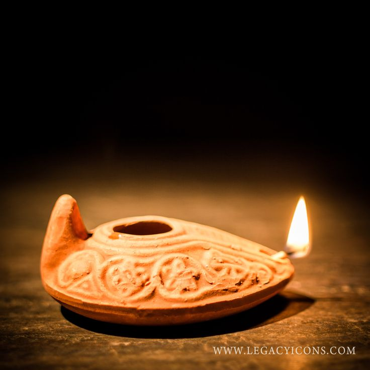 Reproduction Biblical Clay Oil Lamp This Is An Authentic