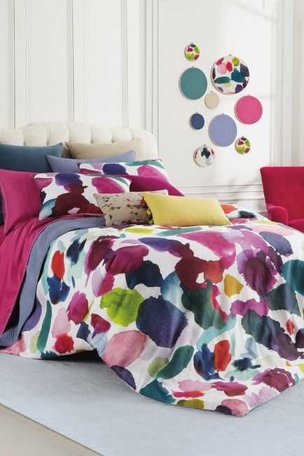 BLUEBELLGRAY Red Violet Abstract Comforter Set