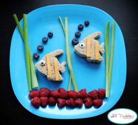 Morsom frokost fisker