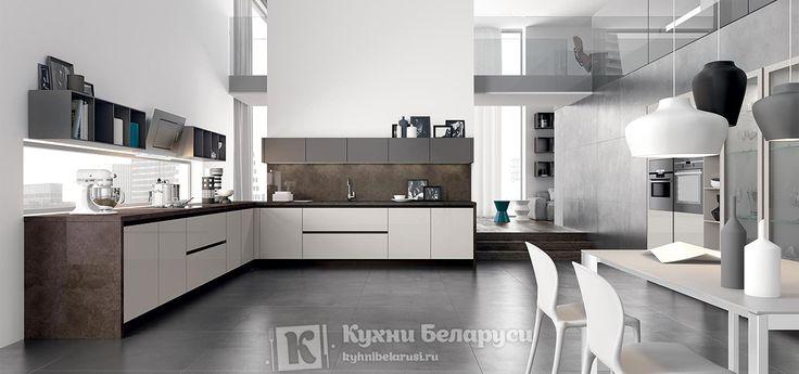 кухни бетон и белый глянец в живую - Поиск в Google