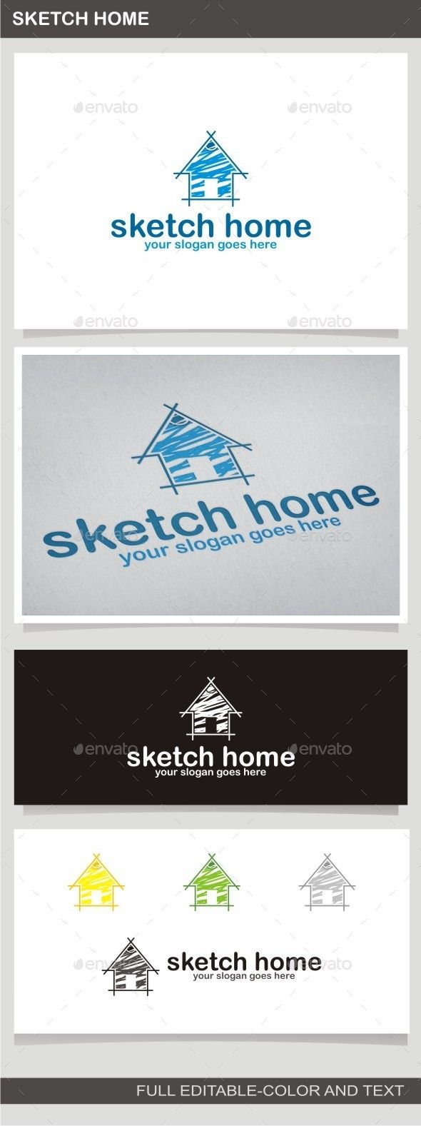 Sketch Home — Vector EPS #real estate #art • Available here → https://graphicriver.net/item/sketch-home/10086140?ref=pxcr