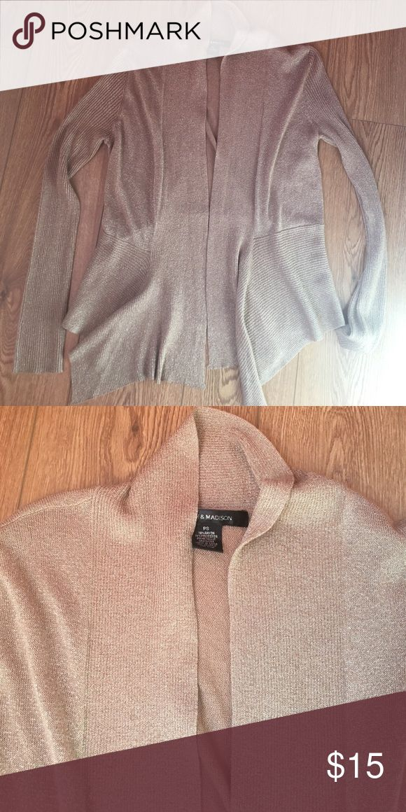 Selling this Shimmery gold cardigan on Poshmark! My username is: andeese89. #shopmycloset #poshmark #fashion #shopping #style #forsale #8th and Madison #Sweaters