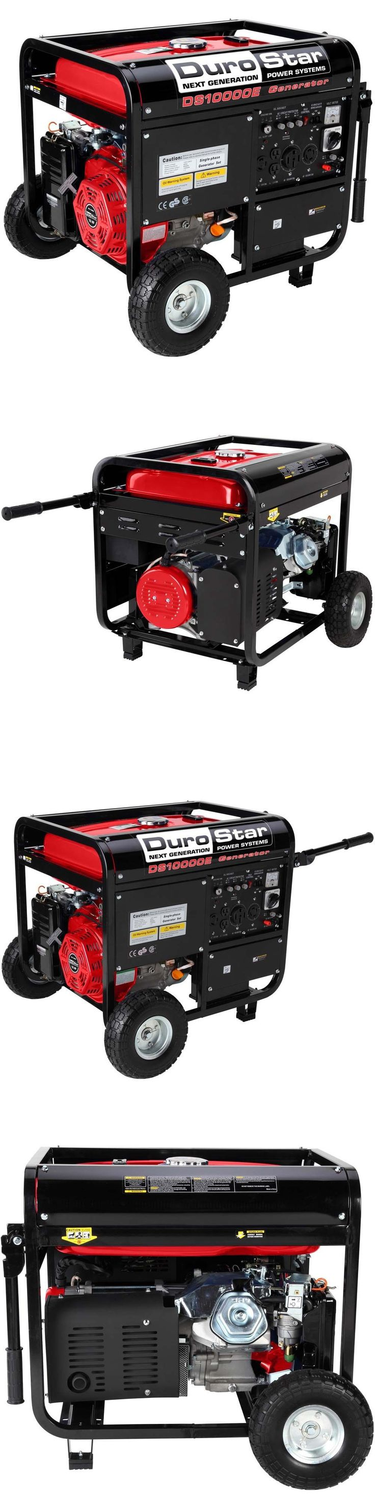 Generators 33082: Durostar 10000W Portable Gas Electric Start Generator Standby Camping Ds10000e -> BUY IT NOW ONLY: $499 on eBay!