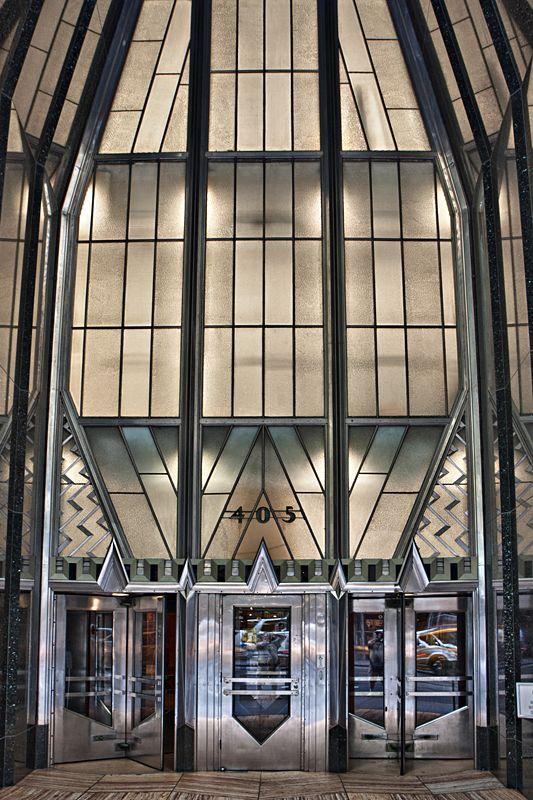 Chrysler Building Entrance On Lexington Avenue