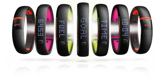 Nike FuelBand mismo diseño pero con mas colores