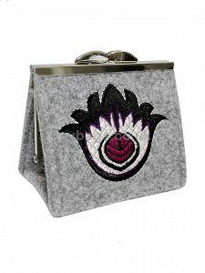 GOSHICO embroidered purse/mini bag GODDESS http://www.mybags.co.uk/goshico-felt-mini-handbag-vanity-case-597.html