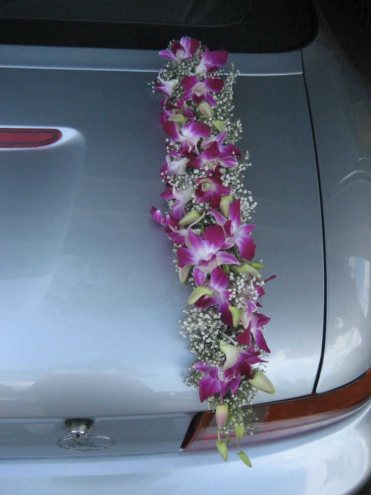 Wedding Car Flower Arrangements : Best images about wedding getaway cars on