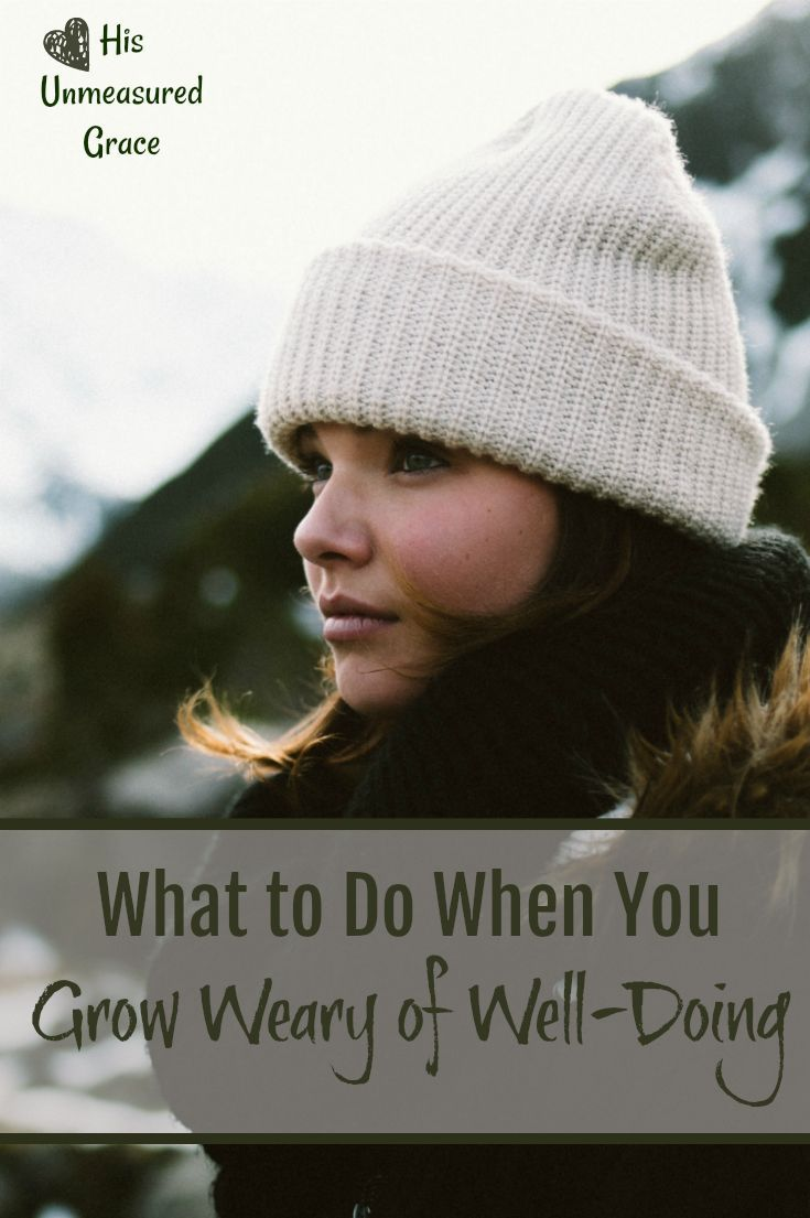 Do you sometimes grow weary of well-doing? As women, we are especially prone to wearing ourselves out by tirelessly taking care of our families until we no longer feel like we have an ounce left to give. We are all dried up!Today we are looking ...