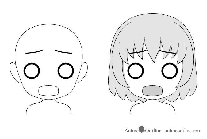 16 Drawing Examples Of Chibi Anime Facial Expressions Drawing