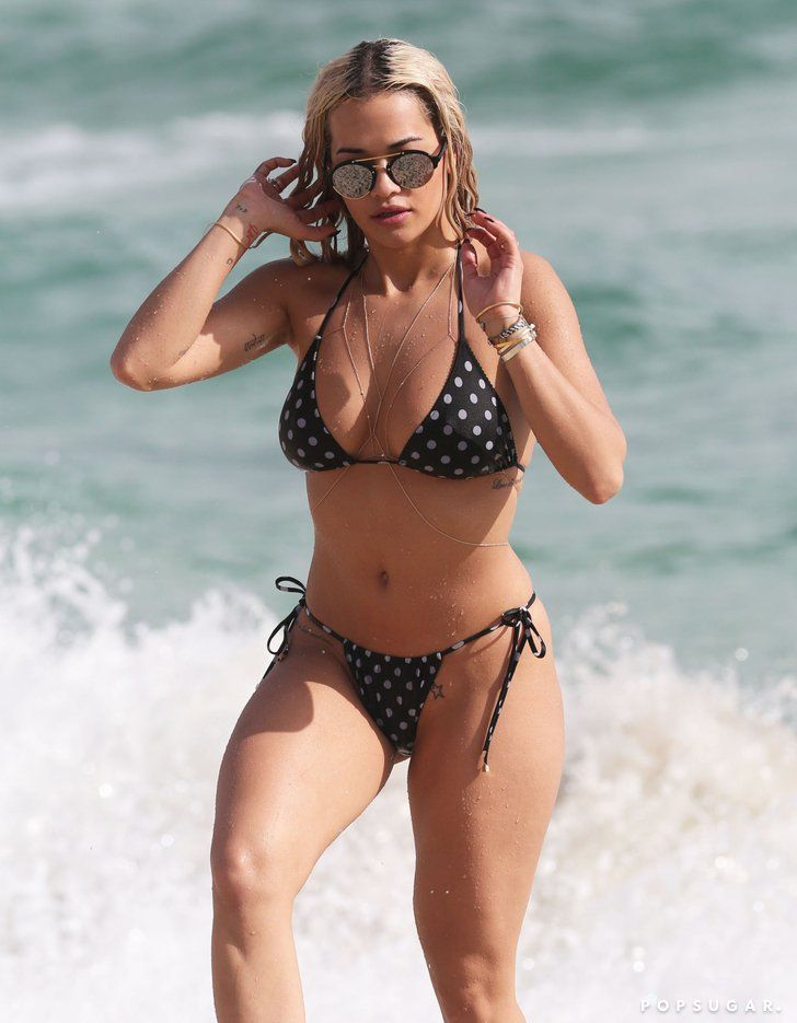 Rita Ora sported a tiny polka-dot bikini in Miami back in December | The Ultimate Celebrity Bikini Gallery | POPSUGAR Celebrity Photo 199