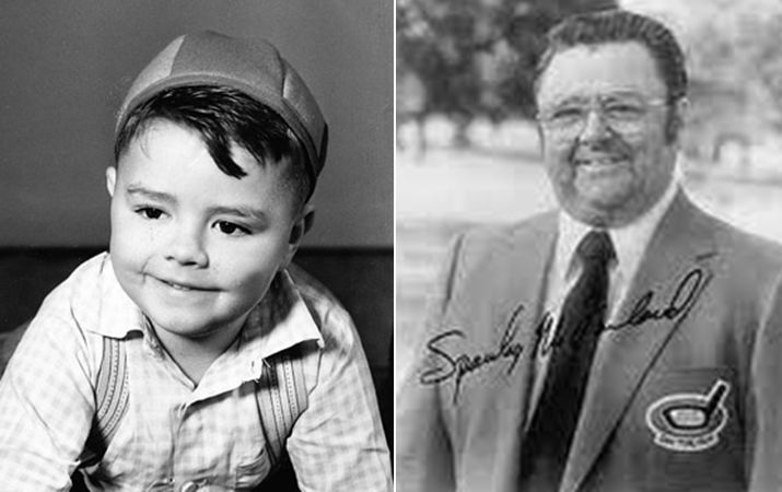 "George McFarland as Spanky from ""Our Gang"" The Little Rascals"
