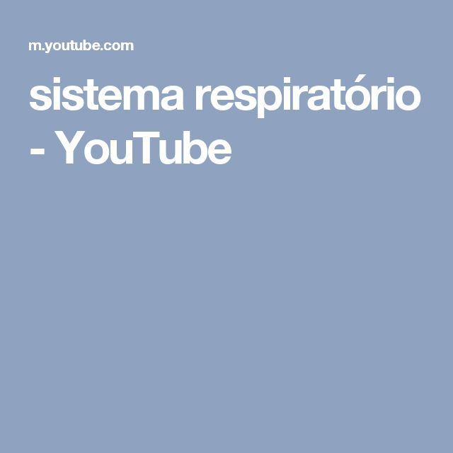 sistema respiratório - YouTube