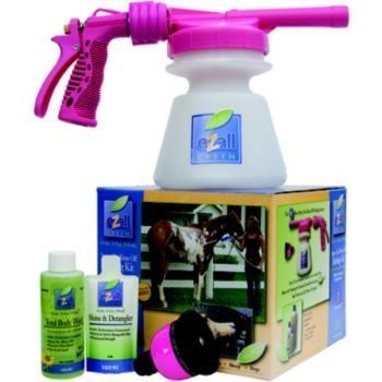 eZall Bathing Kit Blue by eZall. $29.30. Spray on rinse off with ezall s new total body wash green.. eZall Bathing Kit Horse Journal named the eZall foamer Top Stand-Alone Tool! The eZall Bathing Kit featuring the eZ Foamer is the best value on the market to solve your bathing needs. Everything you need to start bathing with the eZall system in one convenient box! The heavy duty foamer features a quick-attach nozzle for attachment to any garden hose. Just fill with t...