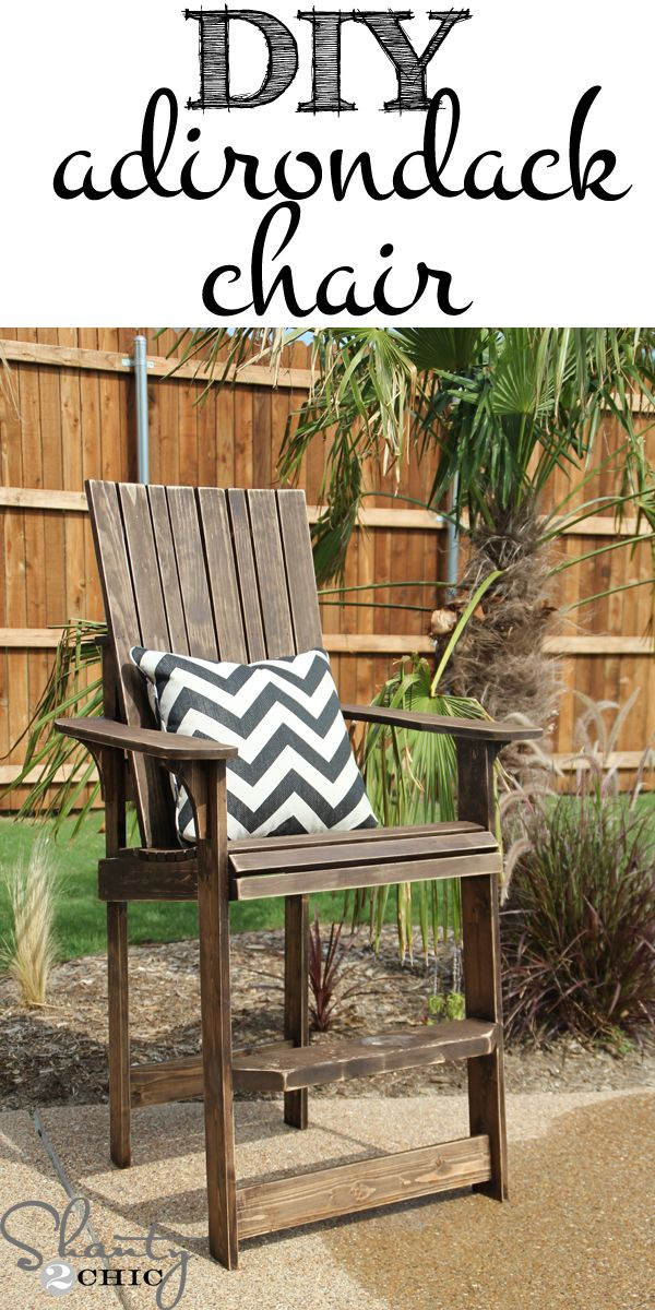 DIY Adirondack Chair - FREE Plans! This chair is AMAZING! I need 2! www.shanty-2-chic.com